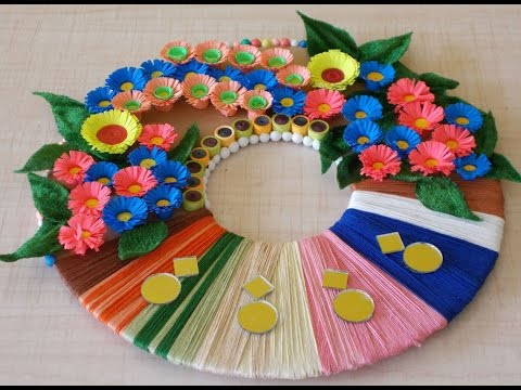 DIY Room Decor : How to Make a Paper Wreath for Home Decoration | DIY Projects