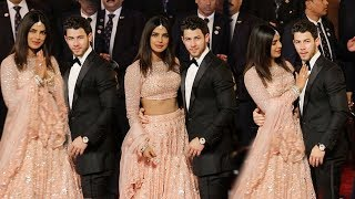 Priyanka Chopra Looks So Beautiful & Complete Holding Nick At Mukesh Ambani Daughter Isha's MARRIAGE