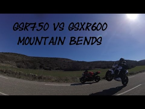 Gsr750 vs Gsxr600 Mountain Bends