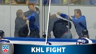Fight between coaches! Only in the KHL