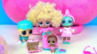 Куклы Лол Мультик! Питомец и чемодан с париками подарок на День Рождения Lol Surprise Families