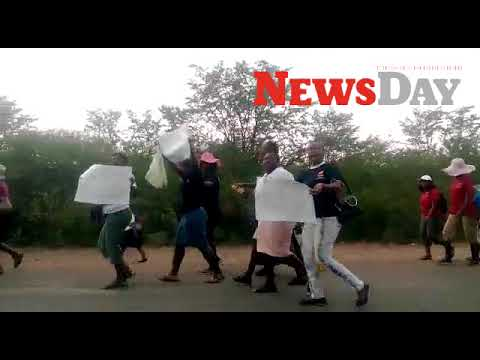 Video: Hwange miners' wives protest over unpaid salaries
