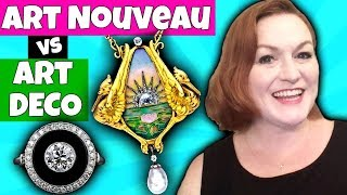 Art Deco Vs Art Nouveau Jewelry - Telling The Difference