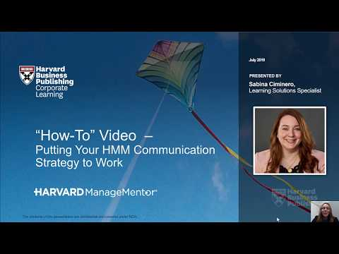 HMM How-To: Putting Your Communications Strategy to Work ...