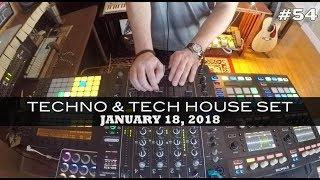 Techno Tech House Mix Deep Underground House Dance January 18, 2018 60 Minutes