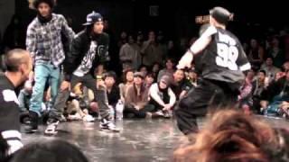 juste debout japan 2011 hiphop les Twins vs hongo