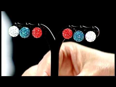 Silvana Crystal Disco Ball Necklace & Earring Set