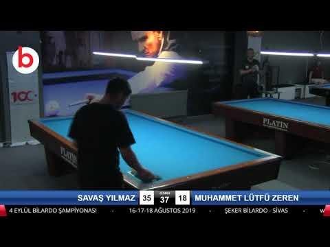SAVAŞ YILMAZ & MUHAMMET LÜTFÜ ZEREN Bilardo Maçı - 4 EYLÜL BİLARDO ŞAMPİYONASI - SİVAS-2.TUR