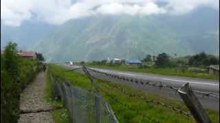 preview picture of video 'Lukla airport airstrip Nepal.'