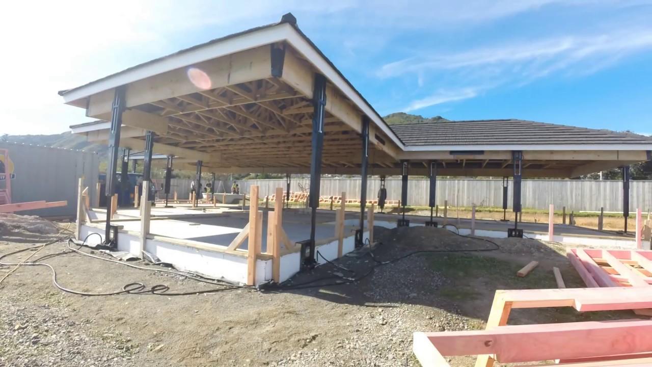 Новозеландская технология строительства крыш!