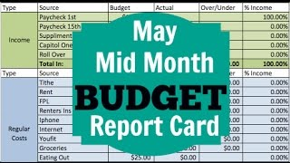 MAY MID MONTH ZERO BASED BUDGET | Dumping Debt Fridays | DAVE RAMSEY INSPIRED
