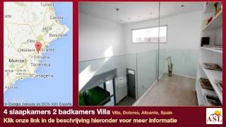 preview picture of video '4 slaapkamers 2 badkamers Villa te Koop in Villa, Dolores, Alicante, Spain'