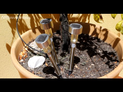 Como Aumentar Duracion Lampara Solar Jardin | How To - Extend Battery Life of your Solar LED light