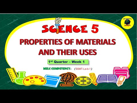 , title : 'USE THE PROPERTIES OF MATERIALS WHETHER THEY ARE USEFUL OR HARMFUL- Science 5
