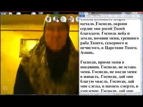 Вечерние совместные молитвы православных по скайпу.