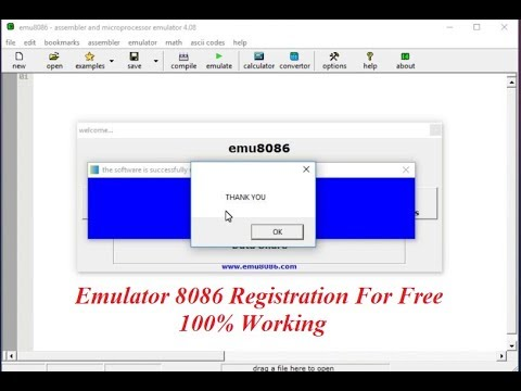 how to install emu 8086 with license name and register key