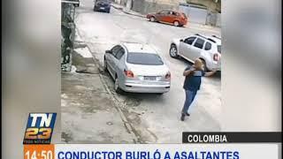 Conductor logró burlar a asaltantes