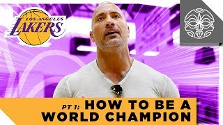 """Teaching the Los Angeles Lakers How to Be World Champions: Dwayne Johnson's """"Genius Talk"""" Part 1"""