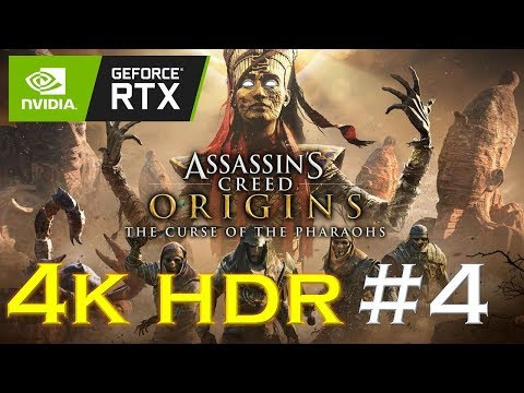 Assassin's Creed Origins 4K HDR Gameplay: The Curse of The Pharaohs Part 4 | RTX 2080ti