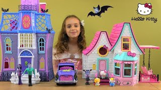 Hello Kitty Moved to NEW Home Story with Hello Kitty and Friends NEW House and Vampirina Toys