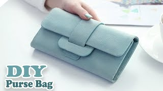 DIY CUTE PURSE BAG PU LATHER NO SEW // Woman Wallet Bag Tutorial Out Of Old Bag