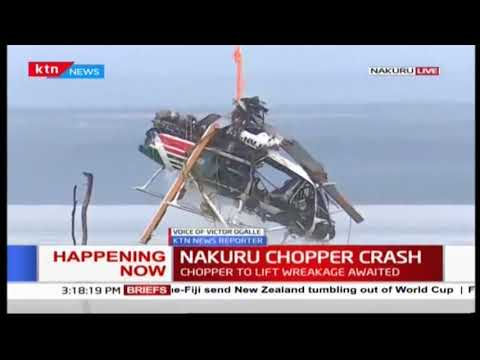 Nakuru chopper crash wreckage removed from Lake Nakuru