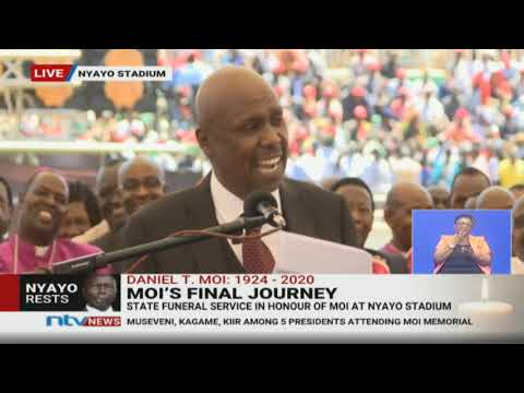 Gideon Moi's hilarious tribute to father gets Uhuru laughing || #MoiMemorialService