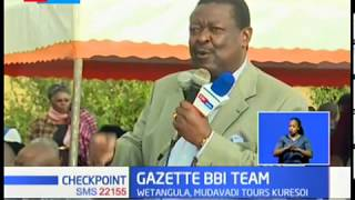 Musalia Mudavadi calls for the gazetting of the BBI team