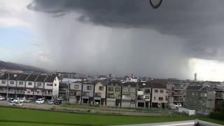 大阪府枚方市を襲ったゲリラ豪雨GuerrilladownpourinOsaka