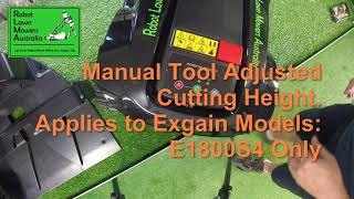 Exgain Cutting Height Adjustment