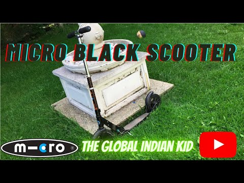Micro Black Kick board Scooter Unboxing and review