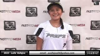 2023 Laila Vallejos Athletic Shortstop Softball Skills Video - Easton Preps Paz + Game Footage
