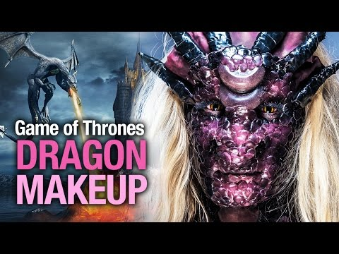 GoT dragon Halloween makeup tutorial