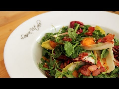 Thanksgiving Salad with Bacon Dressing Recipe – Laura Vitale – Laura in the Kitchen Episode 236