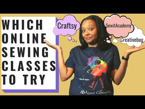 Which Online Sewing Classes Should You Try? Comparing Craftsy, Creativebug and The Sewit Academy