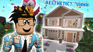 "i tried building an ""AESTHETIC"" BLOXBURG HOUSE... did I do this right"