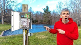 Game Master Power Box Found in Backyard Pond with Spy Gadget Radio Transmitter Device Inside!!