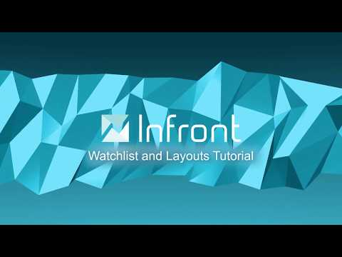 Using a Watchlist in the Infront Professional Terminal - Infront Tutorial