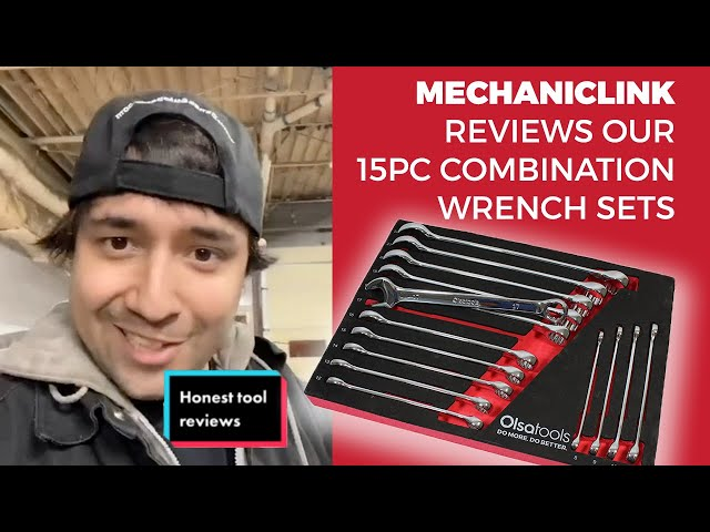 Youtube Video for 15 Pc Combination Wrench Set | 15-Degree Angle Offset by Mechanic Link