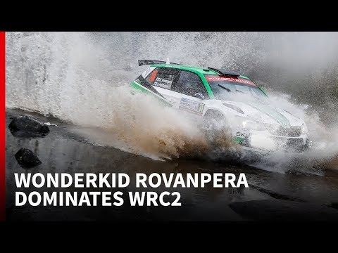 Wonderkid Rovanpera dominates in WRC2