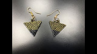 Brick Stitch Triangle Earrings - DIY Tutorial
