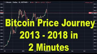 Bitcoin Journey | Bitcoin price journey | 2013-2018 in 2 Minutes