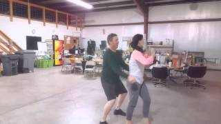 Jeff Morgan Kathleen Cussen Dancing with the Stars practice video