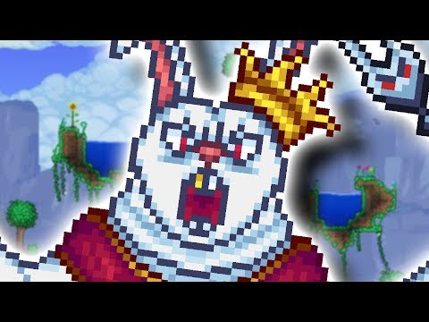 Terraria but a Giant Rabbit kills me over and over