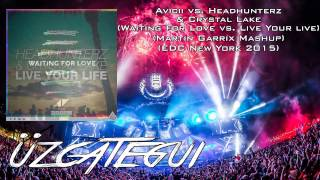 Avicii vs. Headhunterz & Crystal Lake - Waiting For Love vs. Live Your Live (Martin Garrix Mashup)