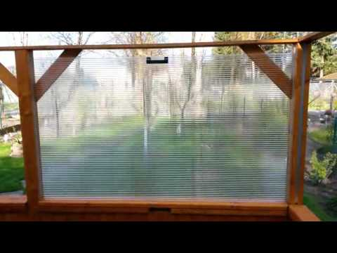 Versenkbare Scheiben in einer Brüstung (Terrasse)