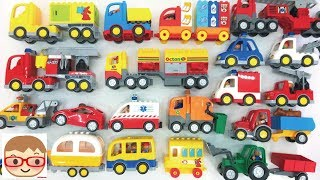 Street Vehicle for Kids   Cars and Trucks   Fire Truck   Police car   Car Transporter