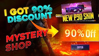 New P90 Skin & MYSTERY SHOP 90% off  || Free Fire Live - Desi Gamers