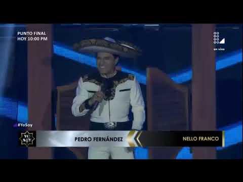 Pedro Fernández canto Dicen que los hombres no deben llorar en yo soy 2017