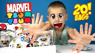 Marvel Superheroes TSUM TSUM Surprise Blind Bags Unboxing with Disney Avengers Toys by KID CITY